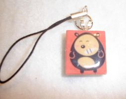 Scrabble Tile Cell Charm by kiddomerriweather