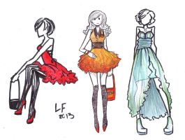Experimental Fashion Sketches by LaauraF