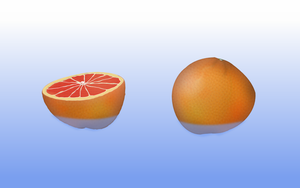 Two Grapefruits In Water by Jon-Snow