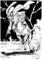 Phantom Rider Sketch by stokesbook