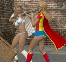 Superheroine conflict 2 by cattle6