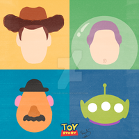 Toy Story - Minimalist Poster by raquelsegal