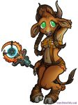 Chartreuse - WoW Chibi Tauren Monk by DivineTofu