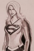 Supergirl Sketch by TheRiotRanger