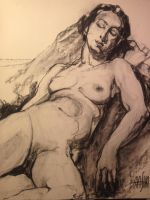 Life Drawing Maria 04/22/13 by mashabraslavsky