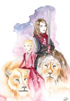 Sisters, Sparkles and Lions by ReginesArtwork