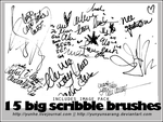 15 big scribble brushes by yunyunsarang