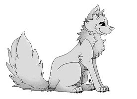 Wolf Lineart (Plasma Pack can Use for References) by Reshireka