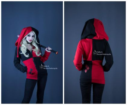 Harley Quinn inspired hoodie by HelenQuila