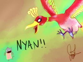 Ho-oh is Greater Than Nyan by JoyceLee