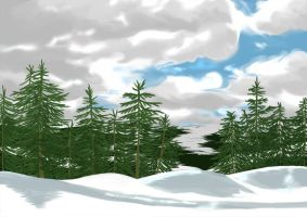 snow mountains by claralimpk