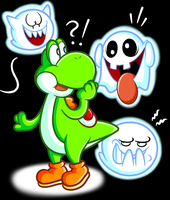 Yoshi and the Boo Buddies by JamesmanTheRegenold