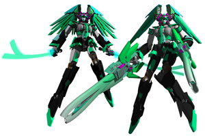 Mobile Suit VL-01 Hatsune Miku by MonkeydanceGuy