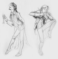 Operatic Characters - Mozart by squonkhunter