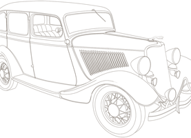 Stock: Ford Deluxe 1934 by Rusembell