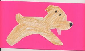 dog in pink by Clementine98