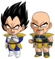 DBZ Set 2: Vegeta and Nappa by cosplayscramble