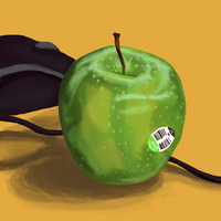 Apple Speed Paint by zigan-with-felines