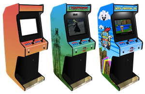 Customisable Arcade Machine for Photoshop by Sinner-PWA