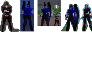 City of Heroes Peeps by Marzy-Of-Water