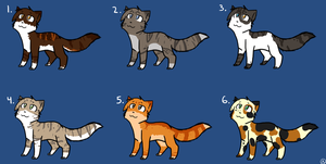 Warrior Cats Adoptables :CLOSED: by MistDapple