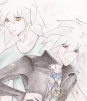 Ryou and Bakura in 30 minutes by CookieRansacked
