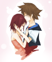 Sora and Kairi by iMii-s