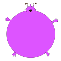 Courage The Bloated Dog by Shelby95