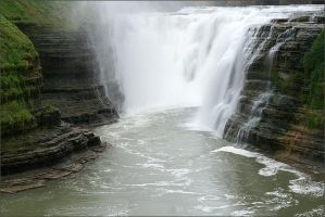 Letchworth Upper Falls - 10-09 by pearwood