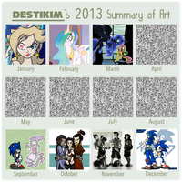 Destikim's 2013 art Summary by Niban-Destikim
