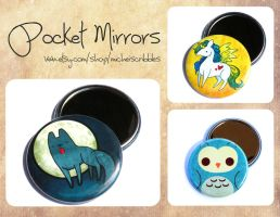 pocket mirrors by michellescribbles
