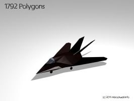 F117 Fighter Jet 3D Model by mbrockwell
