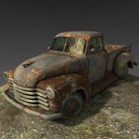old truck by schmeagle