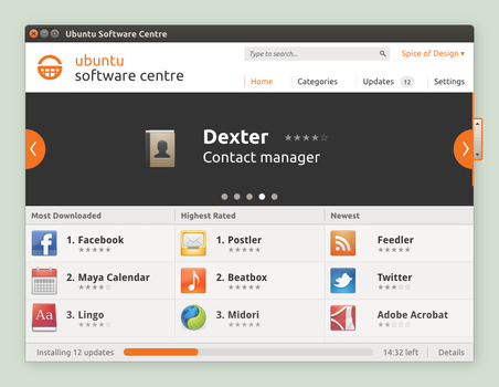 Ubuntu Software Centre Concept by spiceofdesign