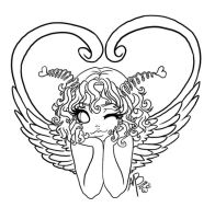 lil cupid girl by Harpyqueen