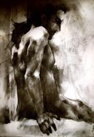 Charcoal Study Nude, George by SVSilent