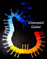 Contrasted Guitar by xALPHAxWOLFx