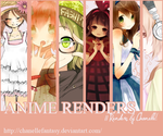Pack de Renders Anime 3 by ChanelleFantasy