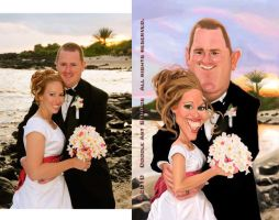 Cain Wedding Caricature by DoodleArtStudios