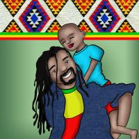 African father and son by BSylphir