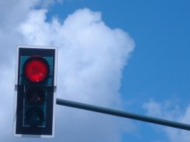 Traffic Light - Red by Lusitana-Stock