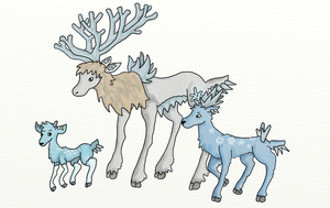 Deer Family Fakemon by bootlegend