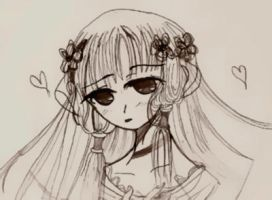 Chii With Flowers by xDevilxSquirrelx
