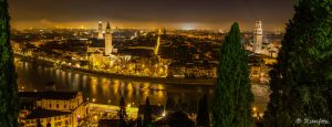 Verona at night by Runfox