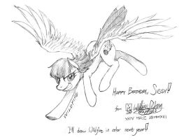 Wildfire: Happy Birthday, Sibsy! by meto30