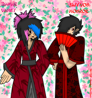 Dahvie and Jayy in kimonos by BOTDF-Sonic-Pm2fan