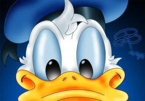 Donald Duck Close Up by RCBrock