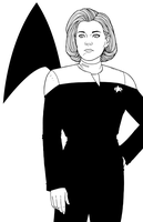 Captain  Kathryn Janeway - Kate Mulgrew by JamieFayX