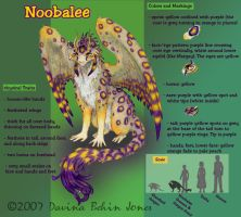 Noobalee - Color Character Ref by FamiliarOddlings