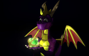 3D Spyro with orb by PyroDragoness